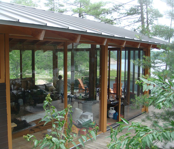 Home design french river cottage with passive solar for Passive solar cabin design