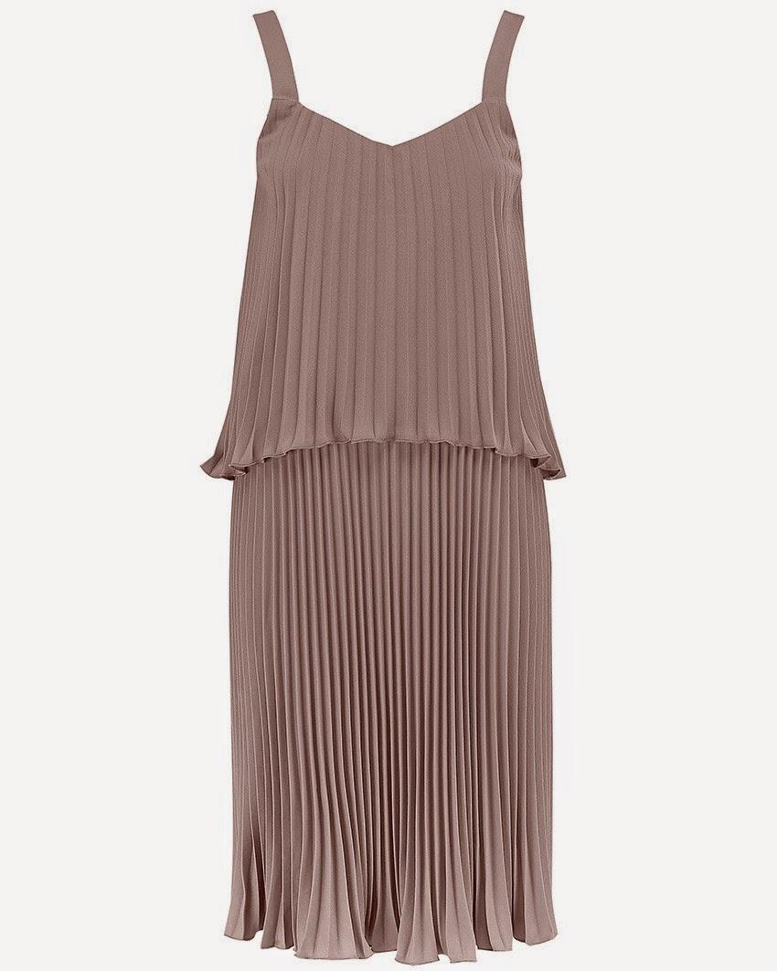atterley road pleated dress, beige pleated dress,