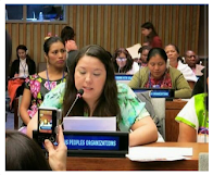 Kandi Mossett at UN 'Native Youth Suicides and Extractive Industries'