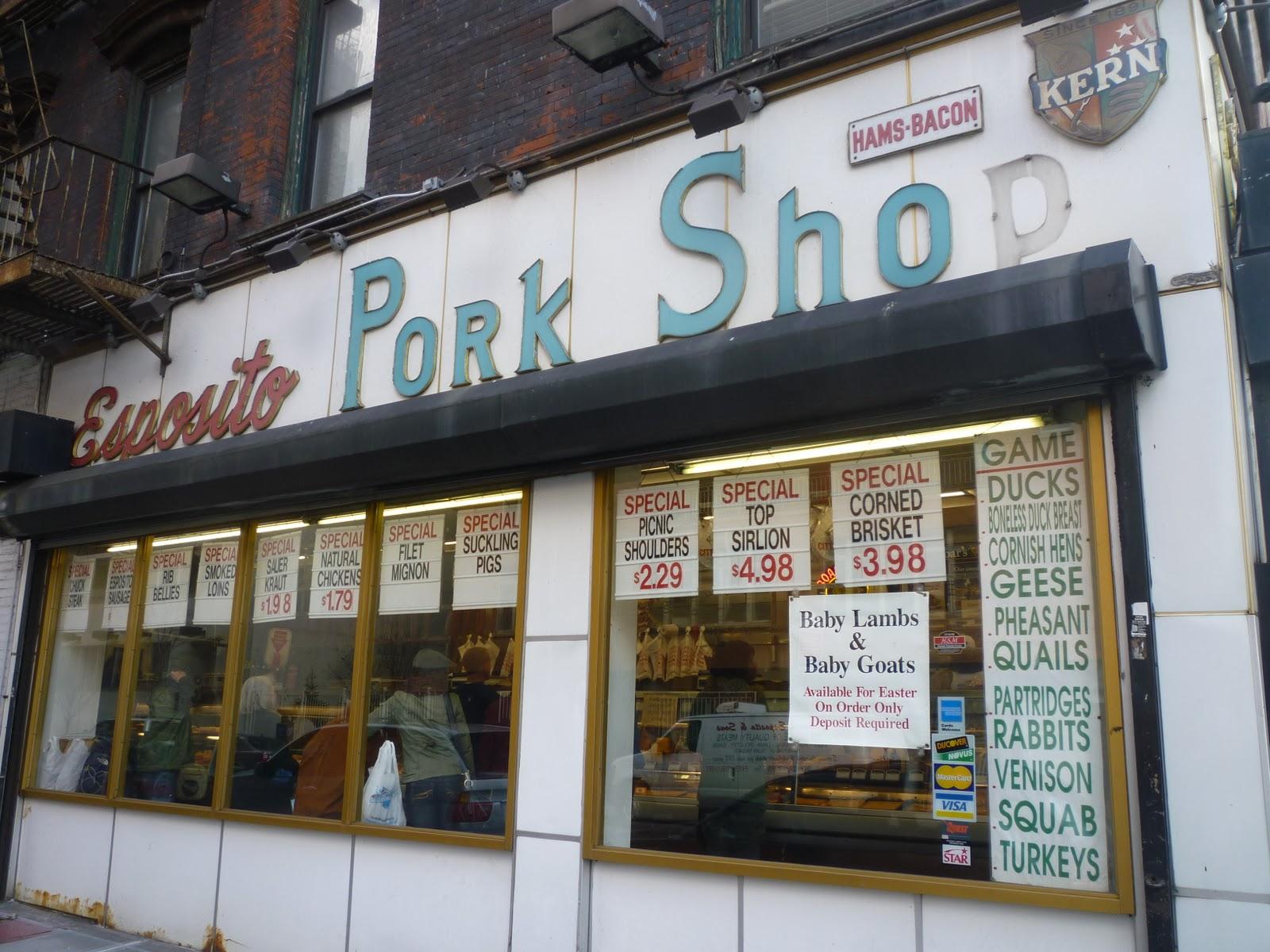 Lost City Esposito Pork Store Back When