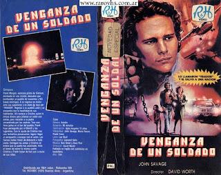 La venganza de un soldado = Soldier's Revenge (1986) (Segunda edición que encuentro de esta película filmada   en Argentina - Caja de cartón cortada)