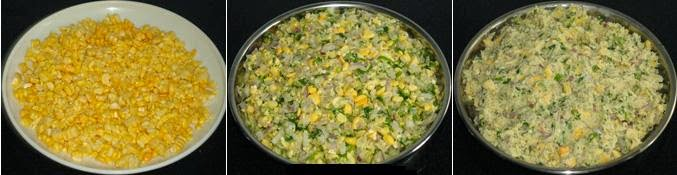 grated corn and batter