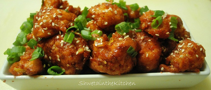 Shweta in the Kitchen: Gobi Manchurian - Cauliflower Manchurian
