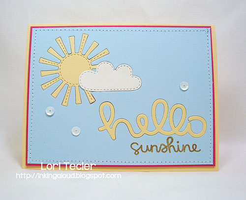 Hello Sunshine-designed by Lori Tecler/Inking Aloud-stamps and dies from Lawn Fawn