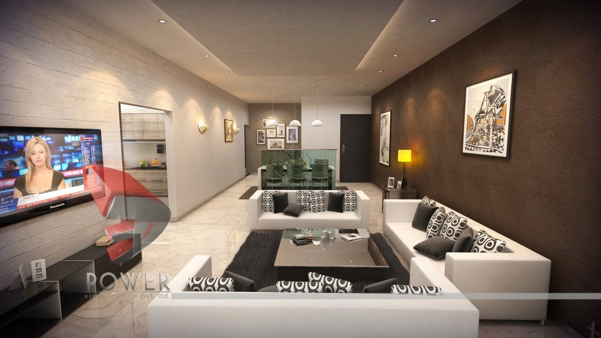 Bungalow interior designs 3d interior design house for 3d wallpaper for living room malaysia