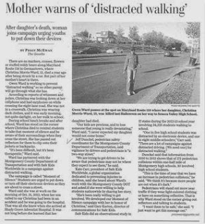 Mother Warns Of Distracted Walking - Local Living Article