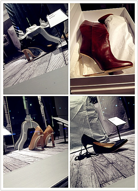 Maison Marton Margiela for HM footwear, Margiela for HM, clear heel boots, awesome footwear, edgy fashion