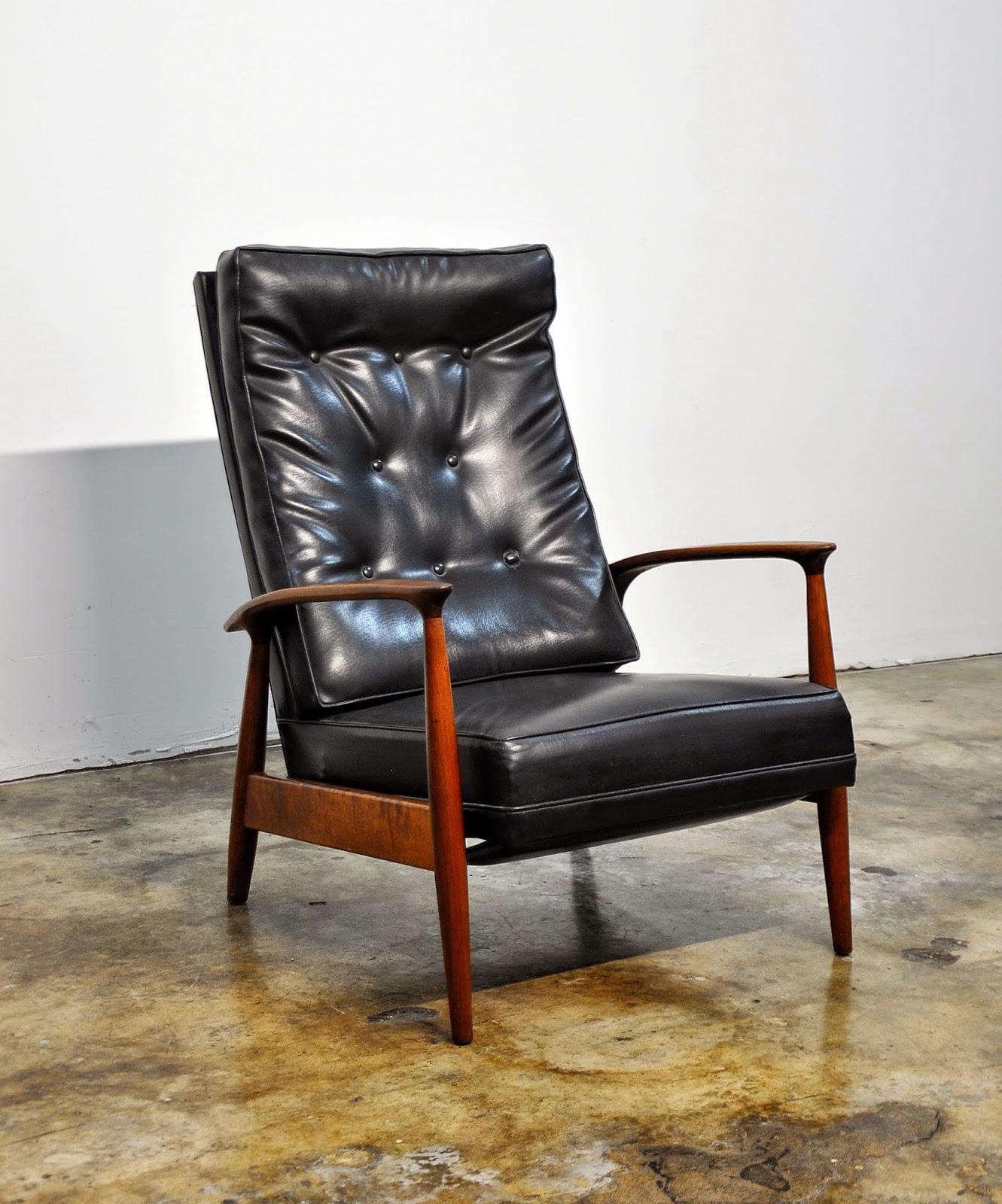 Mid Century Modern Chair Walnut