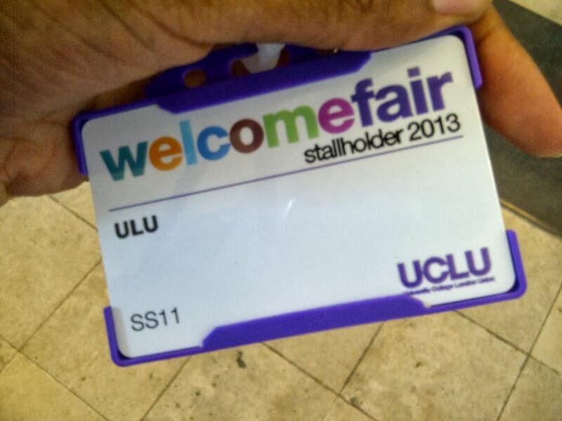 UCLU Fair stall holder Card