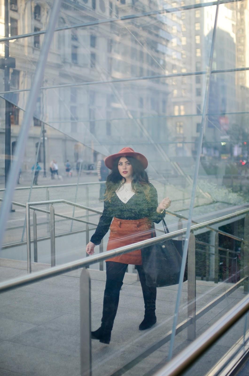 Philadelphia, street, style, blog, Dilworth, Park, glass, subway, Madewell, Transport Tote, E.M., Ricchini