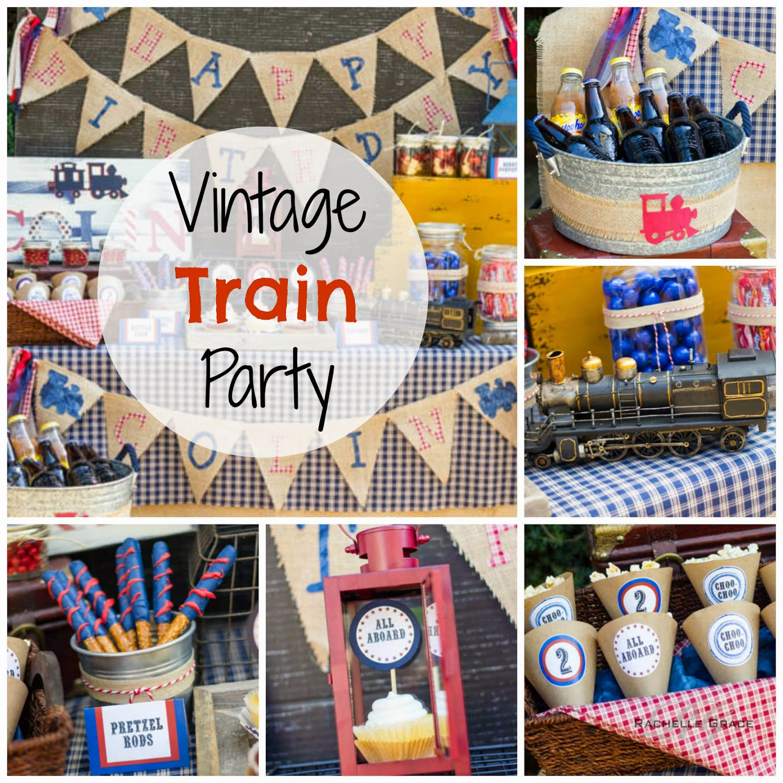 Vintage Train Party Inspiration Trying To Come Up With Ideas For Your Kiddos Next Birthday Think Choo Trains My Little Ones Love Anything That Is