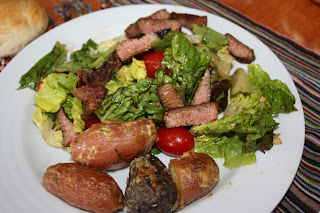 gingery steak salad
