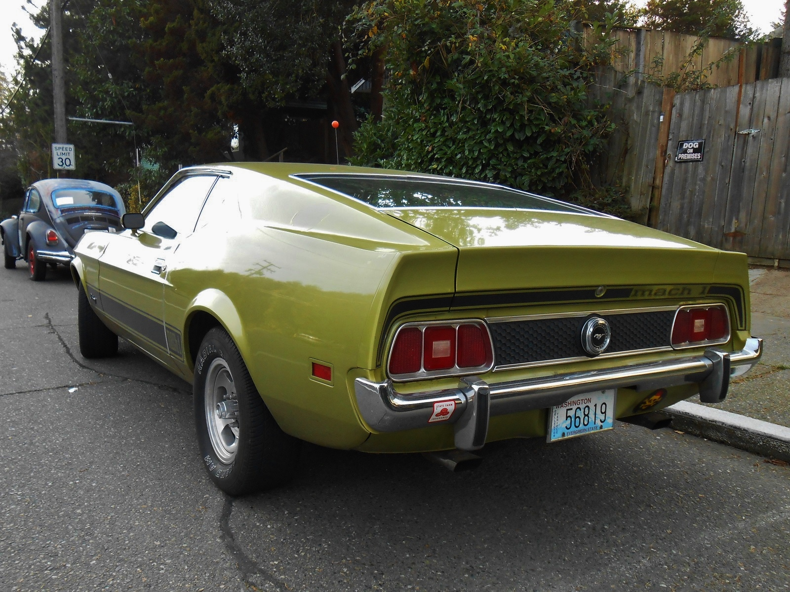 seattle 39 s parked cars 1973 ford mustang mach 1. Black Bedroom Furniture Sets. Home Design Ideas