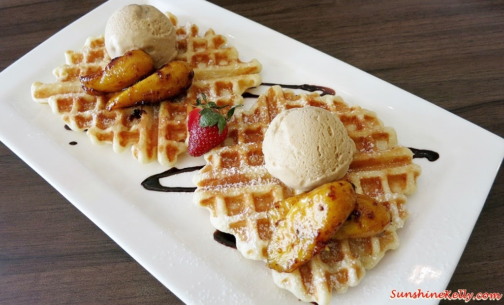 Waffle Gula Melaka Ice Cream, Bites Cafe Lake Fields, Bites Cafe, Sungai Besi, coffee place, malaysia cafe, Coffee, Waffle, Breakfast Pizza, Frittata, Affogato, The last polka, ice cream with coffee, chilled out place, chilled out cafe, egg dish