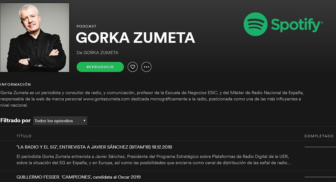 LOS PODCASTS DE ZUMETA EN ITUNES Y SPOTIFY