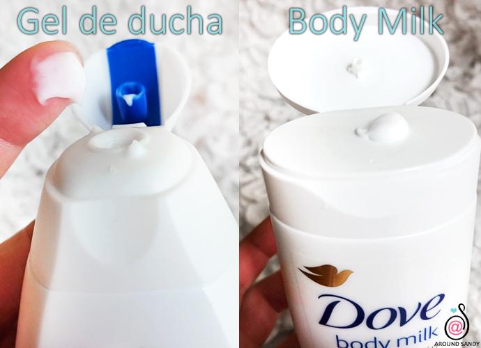 Dove hidratación profunda gel ducha bodymilk