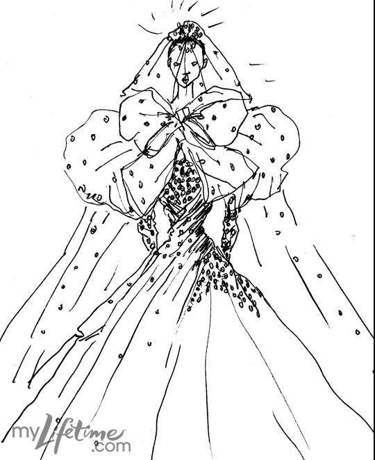 kate wedding dress sketches. Kate#39;s wedding dress sketched