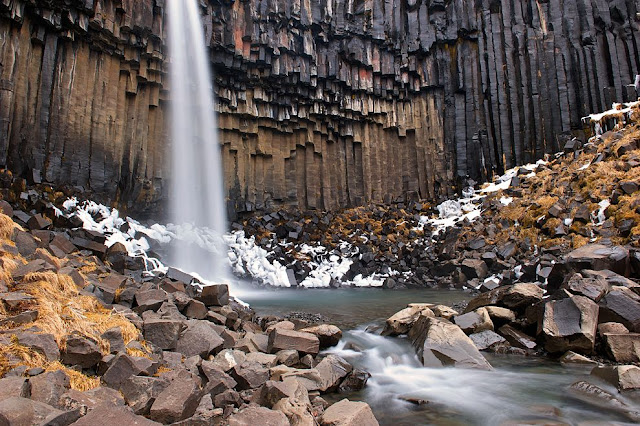 Air terjun Black Fall di Iceland