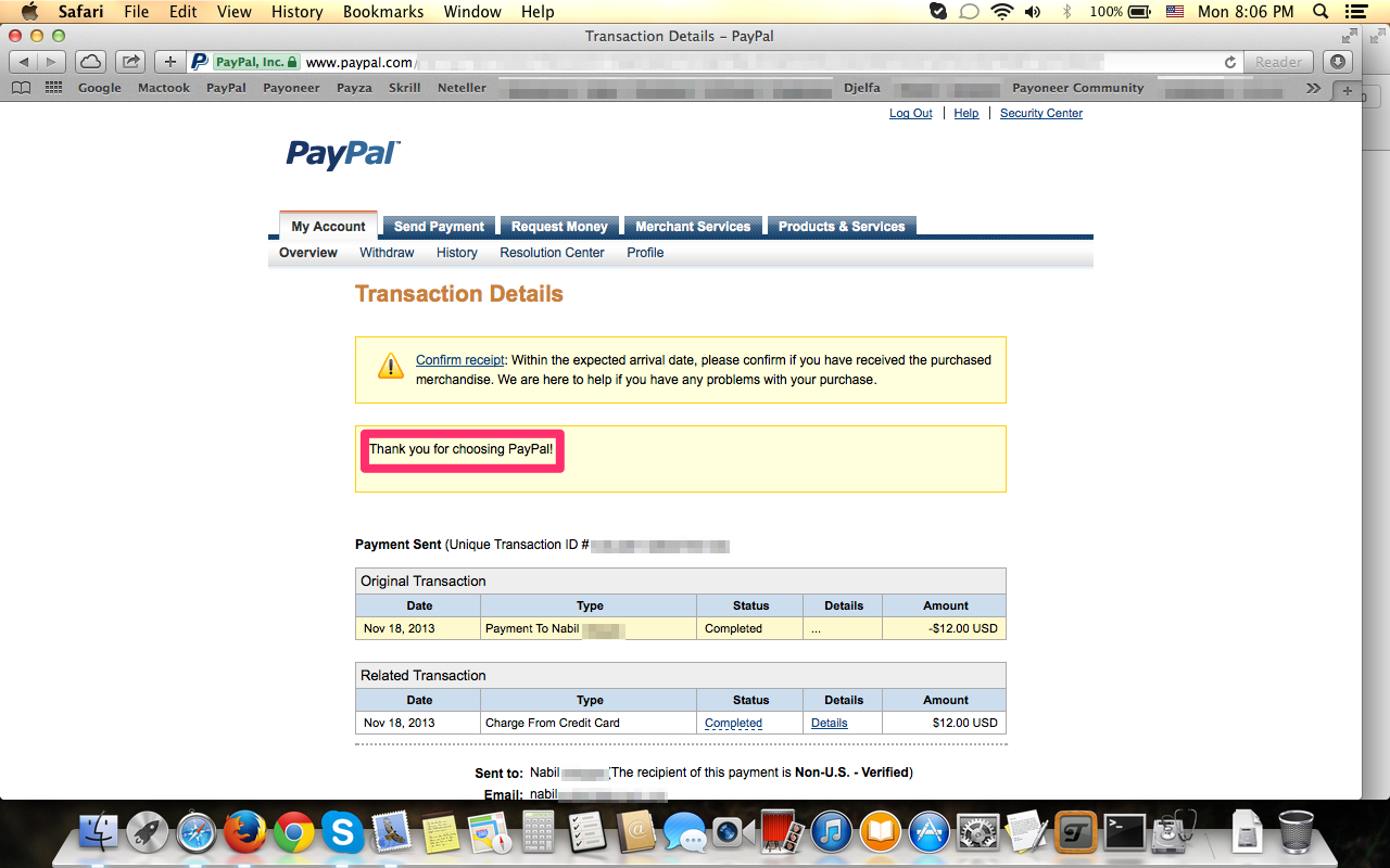 how to ask for payment paypal