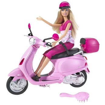Barbie doll on the Bike