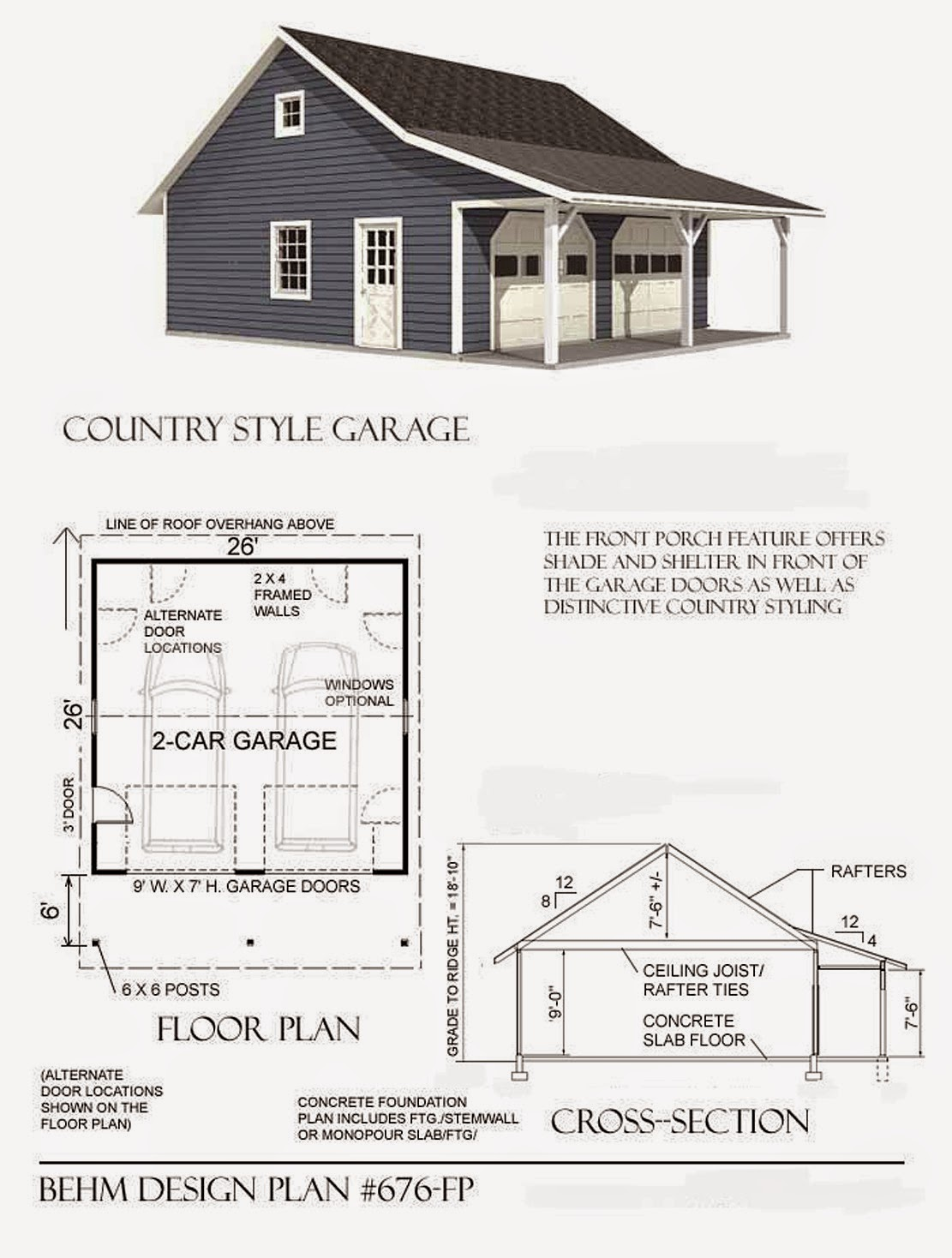Garage plans blog behm design garage plan examples for Country garage plans