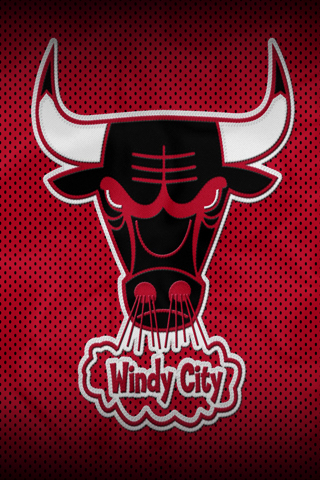 Chicago Bulls Windy City Logo NBA Basketball iPhone Wallpaper