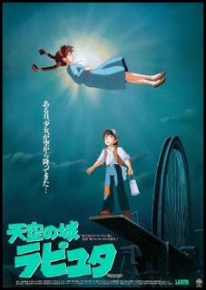 Poster original de El castillo en el cielo (1986), de Hayao Miyazaki
