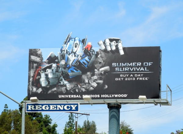 Transformers Summer Survival Universal Studios billboard
