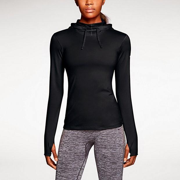 Nike pro hyperwarm fitted hoodie. Bluza do biegania zimą.