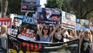 Animal rights demonstration in Tel Aviv