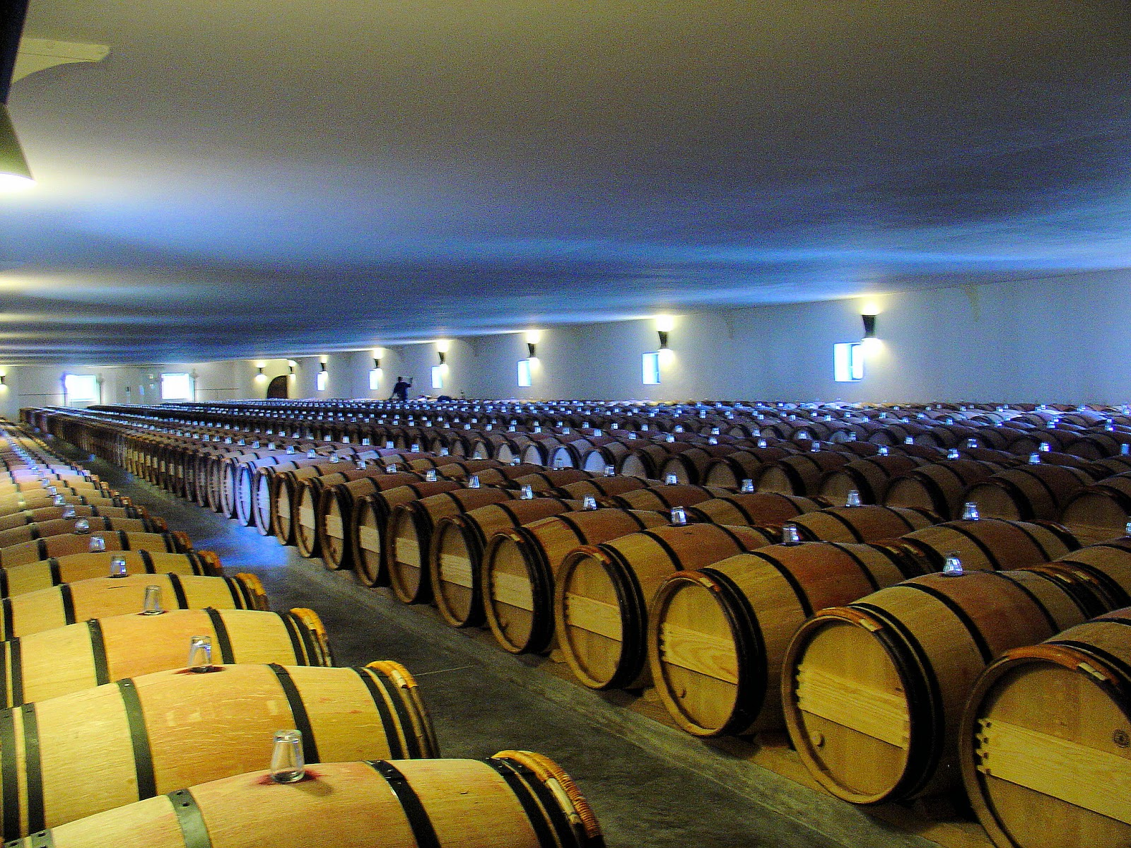 Barrel room at the Chateau Mouton-Rothschild.