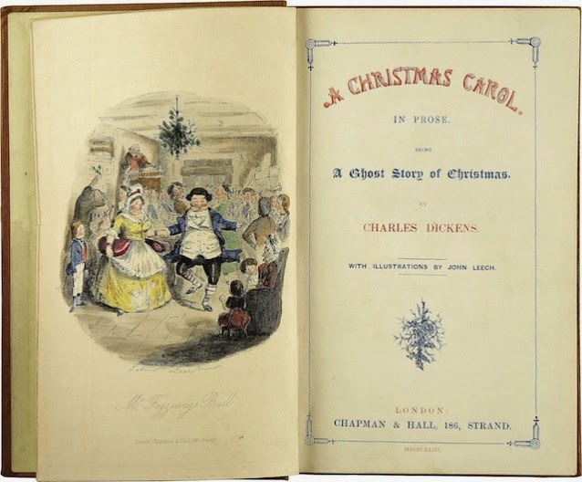 Charles Dickens-A Christmas Carol (Credit: Wikimedia Commons) Click to Enlarge.