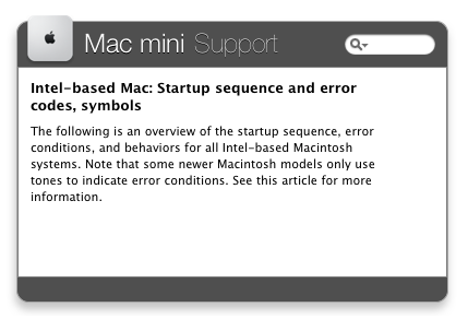 Mac mini Support
