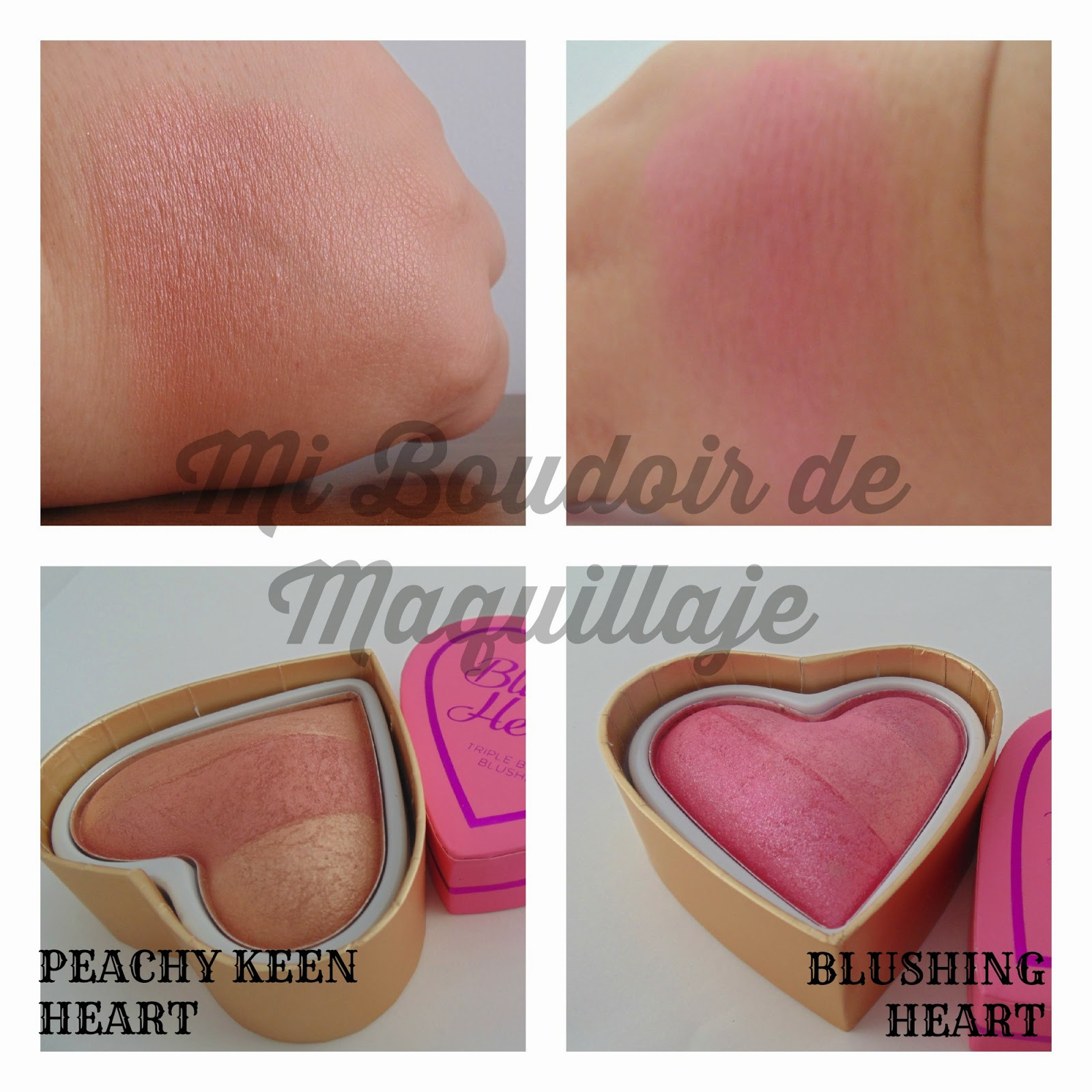Peachy Keen y Blushing Heart coloretes I heart makeup