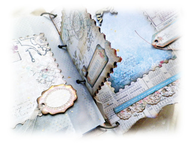 Mini Album Created by Lisa Novogrodski using  the September Scraps of Elegance Kit Lisa's Sweet September featuring Graphic 45 Gilded Lily and Blue Fern Studios Autumn Anthology