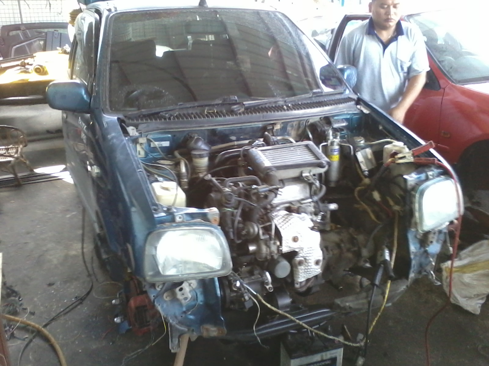 Life With Machine Perodua Kancil 850cc Converted To 660cc Wiring Diagram Daihatsu Jb Ef Det Engine Replaced Carb Position The Air Conditioner Set Still Using Stock Perouda Except Compressor L9