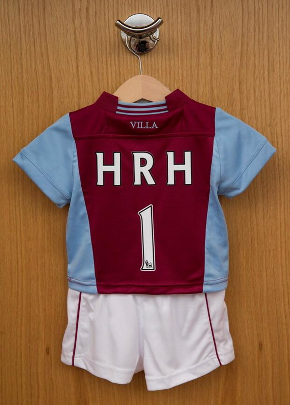 Aston Villa welcome Royal baby with personalized kit