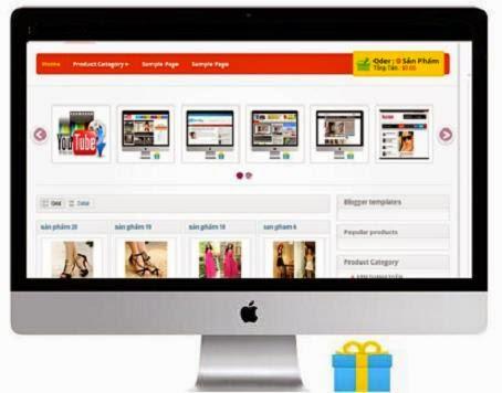 Tặng miễn phí templates Blogspot bán hàng