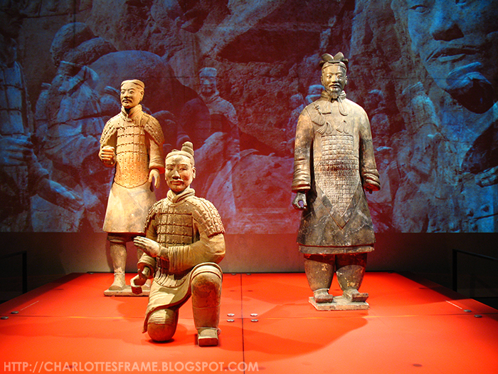 Right to left: Commanding Officer, an archer and infantry soldier terracotta army