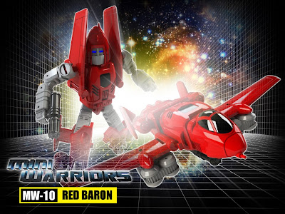"""iGear MW-10 """"Red Baron"""" [Powerglide] Transformers 3rd Party Figure"""