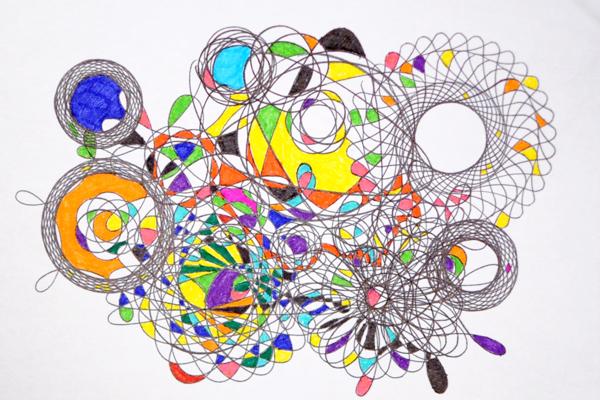 Paper Raindrops Spirograph Modern Art