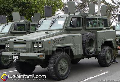 Vehículo Blindado RG-31 Nyala del Ejercito de Colombia.