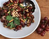 Grape Salad with Almonds &amp; Cilantro
