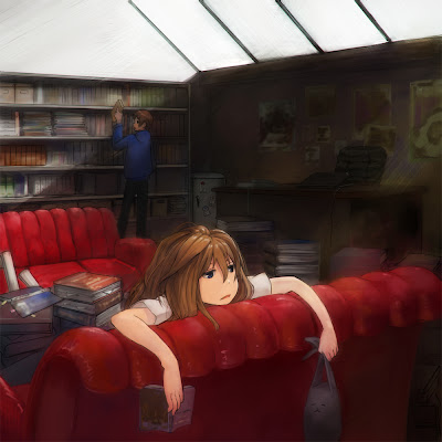 bored library anime