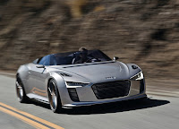 Audi E-tron Spyder front view HD Wallpaper