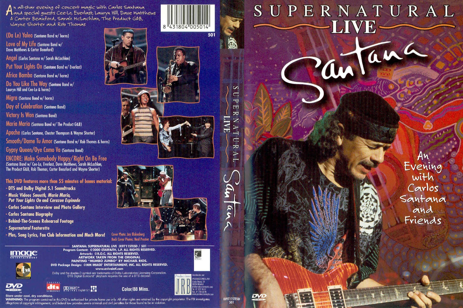 Cat logo dvd m sica santana supernatural live for 1980 floor show dvd