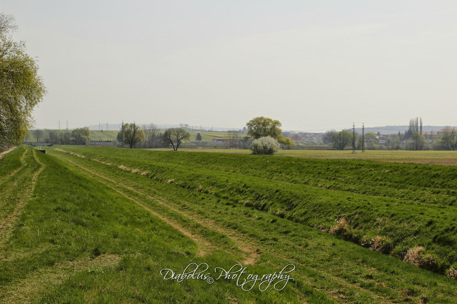 Pohled na Holíč od zahrádkářské osady Baráky - silnice na Skalicu