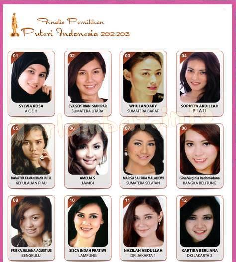 Finalis Puteri Indonesia 2013