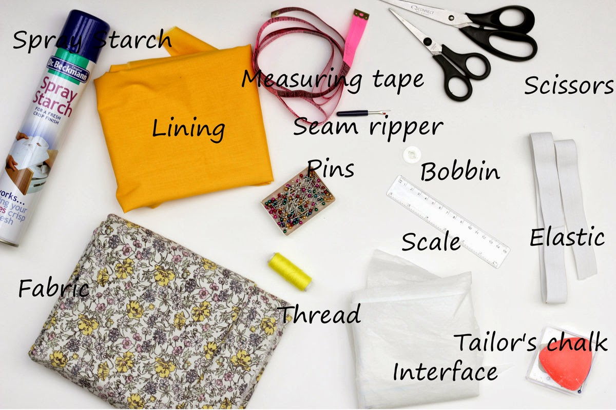 Sewing supplies to make a skirt - what is needed to make a skirt