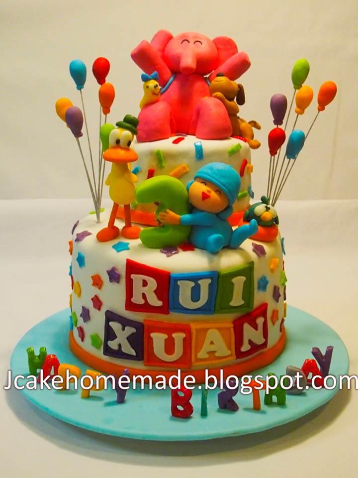 Jcakehomemade Pocoyo Birthday Cake